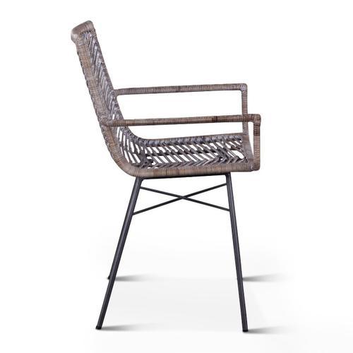Kubu Dining Arm Chair Gray Whitewash