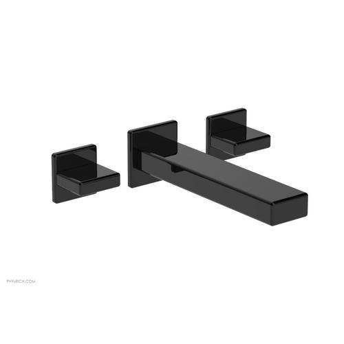 MIX Wall Lavatory Set - Blade Handles 290-11 - Gloss Black