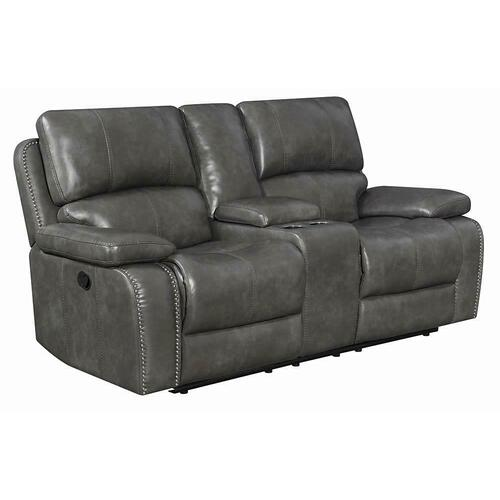Ravenna Casual Charcoal Motion Loveseat