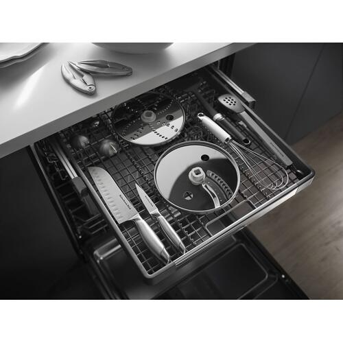 KitchenAid - 44 dBA Dishwasher with Dynamic Wash Arms Black