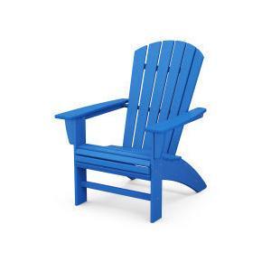 Polywood Furnishings - Nautical Curveback Adirondack Chair in Pacific Blue