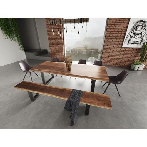 VIG Furniture - Modrest Taylor Modern Live Edge Wood Small Dining Bench