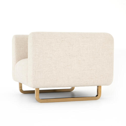 Sled Chair-thames Cream