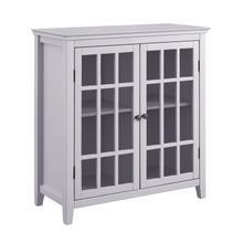 Largo Double Door Cabinet Gray