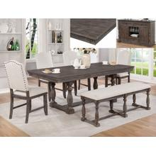 Regent Dining Room Set: Table, 3 Chairs & Bench