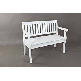 Artisan's Craft Storage Bench - Weathered White
