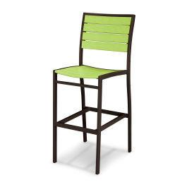 Polywood Furnishings - Eurou2122 Bar Side Chair in Textured Bronze / Lime