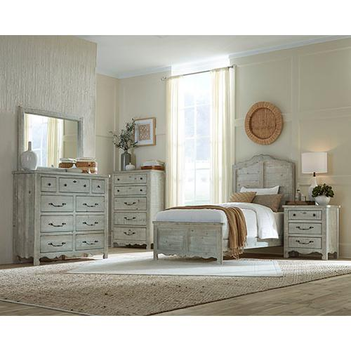 Twin Complete Bed - Mint Finish
