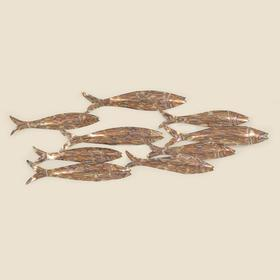 Stainless School of Fish Wall Hanging