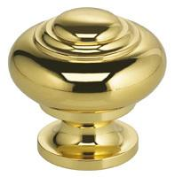 Classic Cabinet Knob in US3 (Polished Brass, Lacquered)