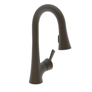 Weathered Brass Prep/Bar Pull Down Faucet