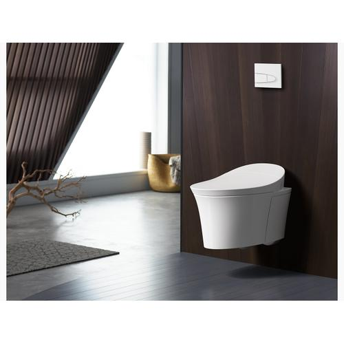 White Intelligent Wall-hung Toilet