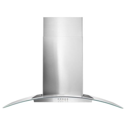 """Gallery - 36"""" Concave Glass Wall Mount Range Hood"""