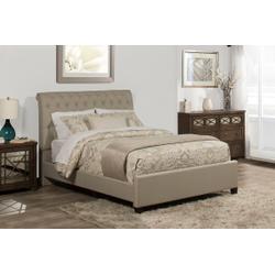 Napleton King Bed - Linen Sandstone