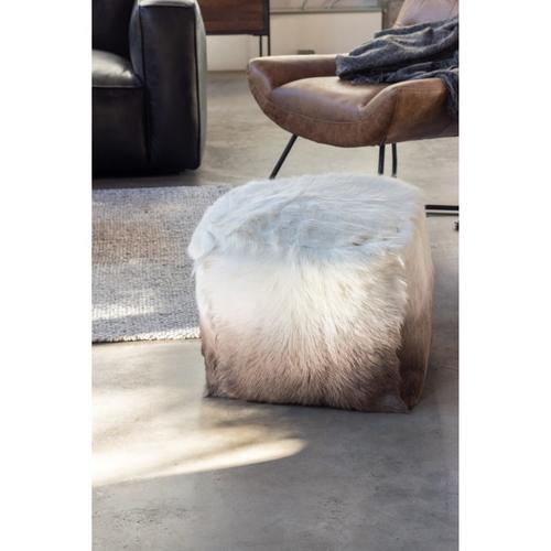 Moe's Home Collection - Goat Fur Pouf Cappuccino Ombre