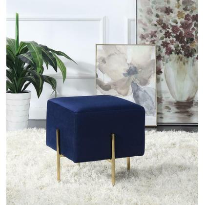 See Details - Modern Blue Velvet Ottoman