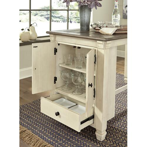 Signature Design By Ashley - Bolanburg RECT Dining Room Counter Table Antique White