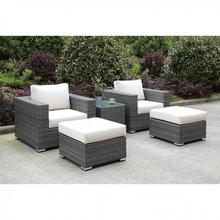 See Details - Somani 2 Chairs + 2 Ottomans + End Table
