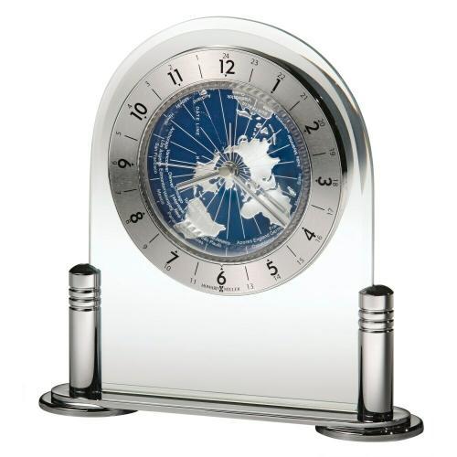 Howard Miller Discoverer World Map Alarm Clock 645346