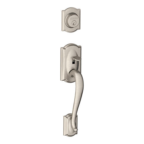 Camelot Inactive Handleset and Flair Lever - Satin Nickel