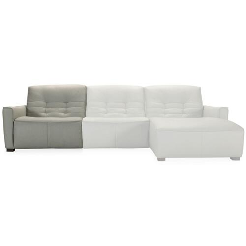 Living Room Reaux Grandier 6-Piece RAF Chaise Sectional w/ 2 Recliners