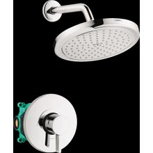 Chrome Pressure Balance Shower Set with Rough, 2.0 GPM