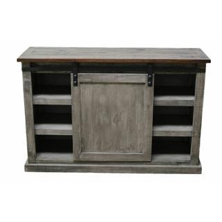 """See Details - 52"""" Charcoal Gray/brown Barn Door TV"""