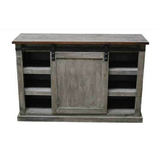 "Million Dollar Rustic - 52"" Charcoal Gray/brown Barn Door TV"
