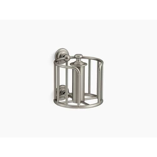 Vibrant Brushed Nickel Toilet Paper Carriage