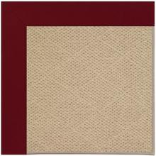 "Creative Concepts-Cane Wicker Canvas Burgundy - Rectangle - 24"" x 36"""