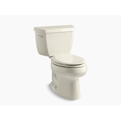 Almond Two-piece Elongated 1.28 Gpf Toilet
