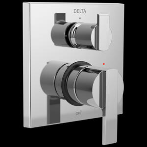 Chrome Angular Modern Monitor ® 14 Series Valve Trim with 3-Setting Integrated Diverter Product Image