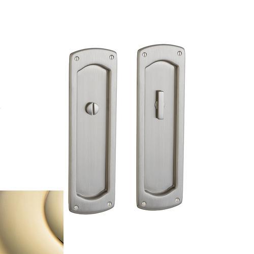 Baldwin - Lifetime Polished Brass PD007 Palo Alto Pocket Door