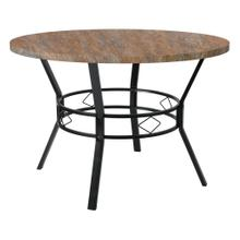 "45"" Round Dining Table in Distressed Driftwood Finish"
