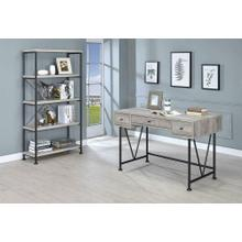 Guthrie Industrial Grey Driftwood Writing Desk