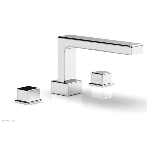 MIX Deck Tub Set - Cube Handles 290-43 - Polished Chrome