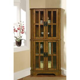See Details - Traditional Warm Brown Curio Cabinet