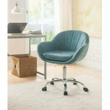 ACME Giolla Office Chair, Vintage Turquoise PU & Chrome - 92502