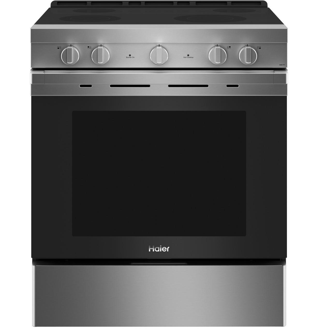 """Haier30"""" Smart Slide-In Electric Range With Convection"""