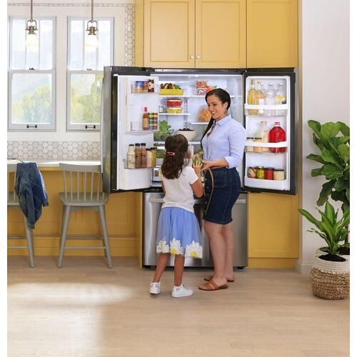 GE® ENERGY STAR® 22.1 Cu. Ft. Counter-Depth Fingerprint Resistant French-Door Refrigerator