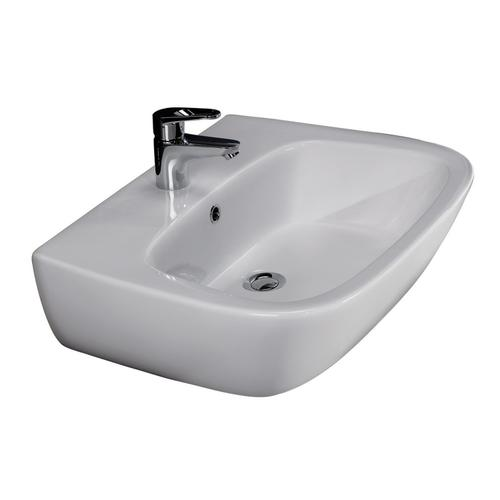 "Elena 450 Wall-Hung Basin - 6"" Mini Widespread"