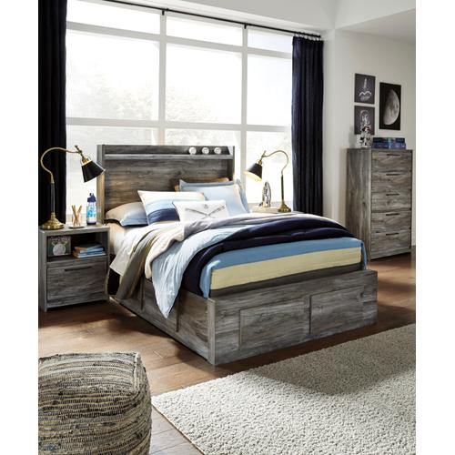 Baystorm - Gray 5 Piece Bed (Full)
