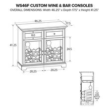 WS46F Wine & Bar Custom Console
