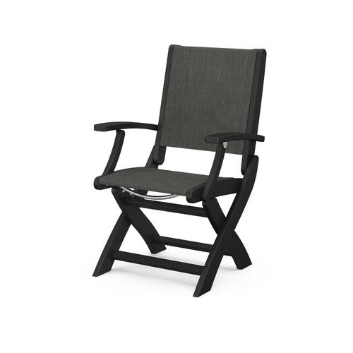 Product Image - Coastal Folding Chair in Black / Ember Sling