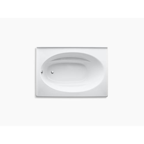 "White 60"" X 42"" Alcove Bath With Integral Apron and Left-hand Drain"