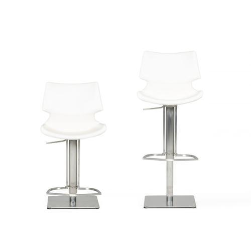 VIG Furniture - Modrest Henslow Modern White Bar Stool