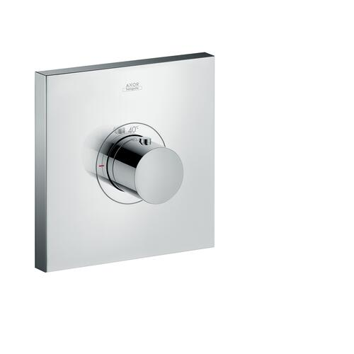Brushed Nickel Thermostat HighFlow for concealed installation square