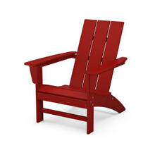 View Product - Modern Adirondack Chair in Crimson Red