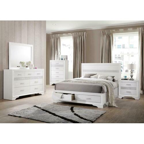 Miranda Contemporary White Eastern King Four-piece Set