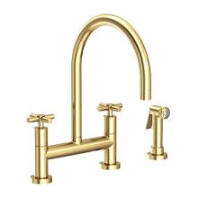 See Details - Forever Brass - PVD Kitchen Bridge Faucet with Side Spray